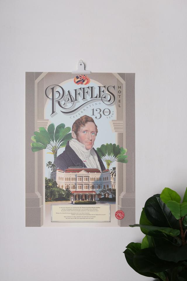 Raffles 130th Anniversary Poster