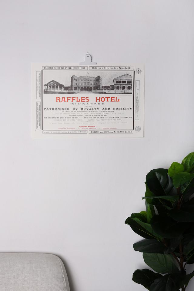 ラッフルズの<br>広告デザインのポスター/Raffles Advertisement Poster