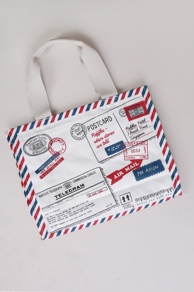 Tote Bag with Raffles Mail Design