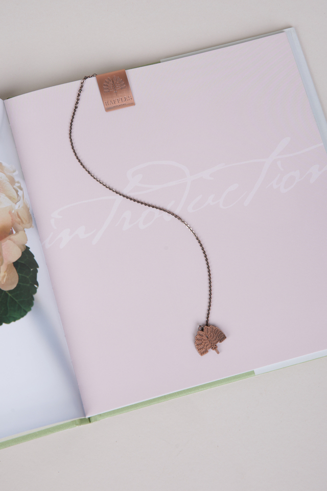 Raffles Palm Bookmark with page clip