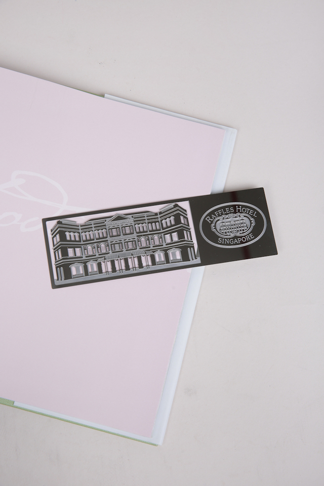 Raffles metal laser cut Facade bookmark