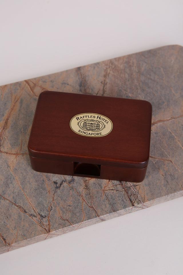 ラッフルズ 木製名刺箱/Raffles Wooden Name Card Box