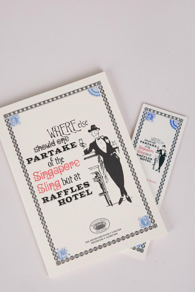 ラッフルズの「パーテイク」<br>デザインのノート/Raffles Notebook in Partake Design