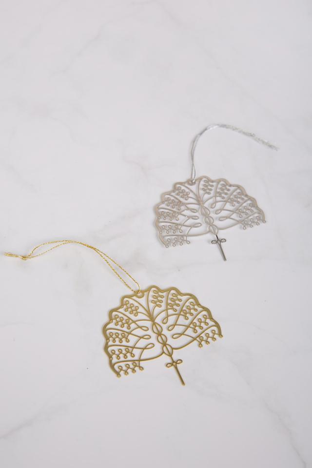 Raffles Metal Palm Ornament Bookmark