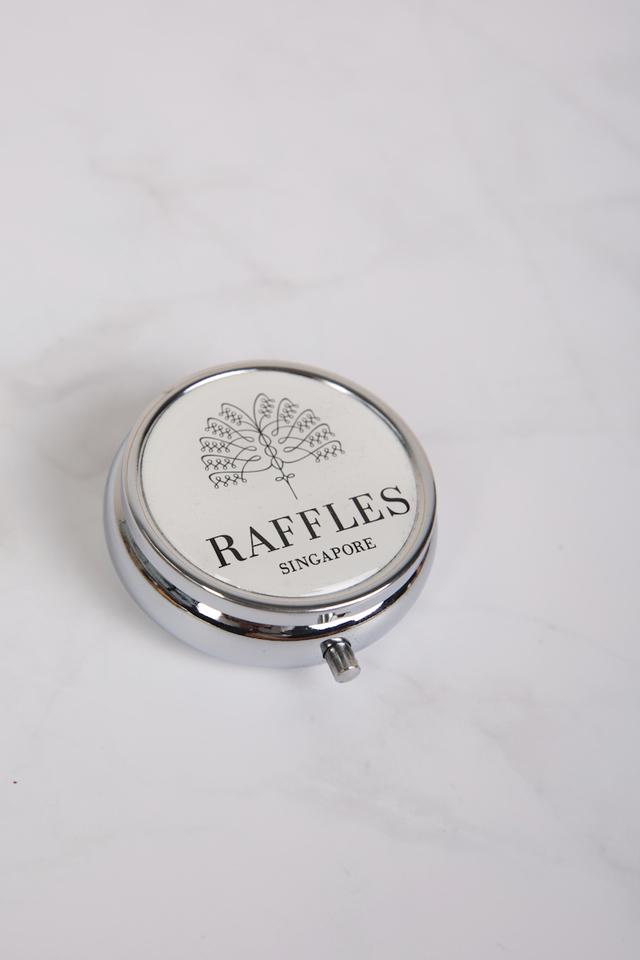 Round Pill Box With Palm Logo