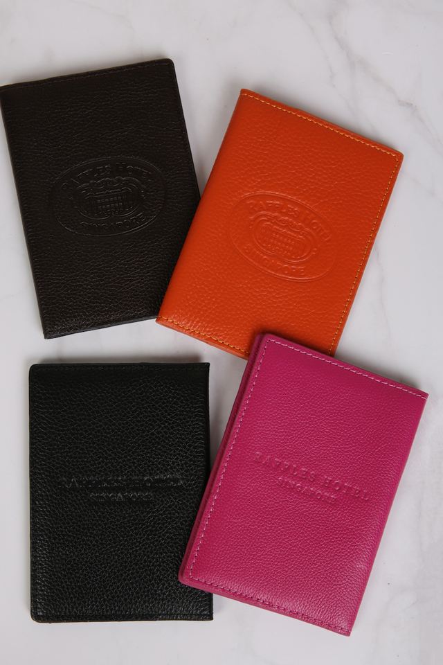 Raffles Leather Passport Holder
