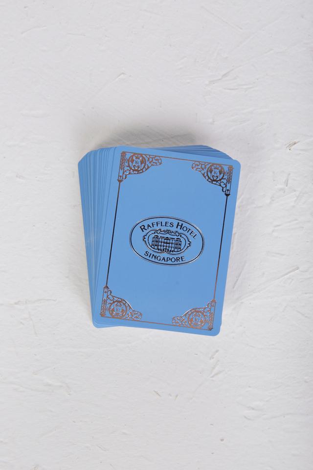 ラッフルズ特製 銀箔トランプ/Raffles Signature Silver Foil Playing Cards