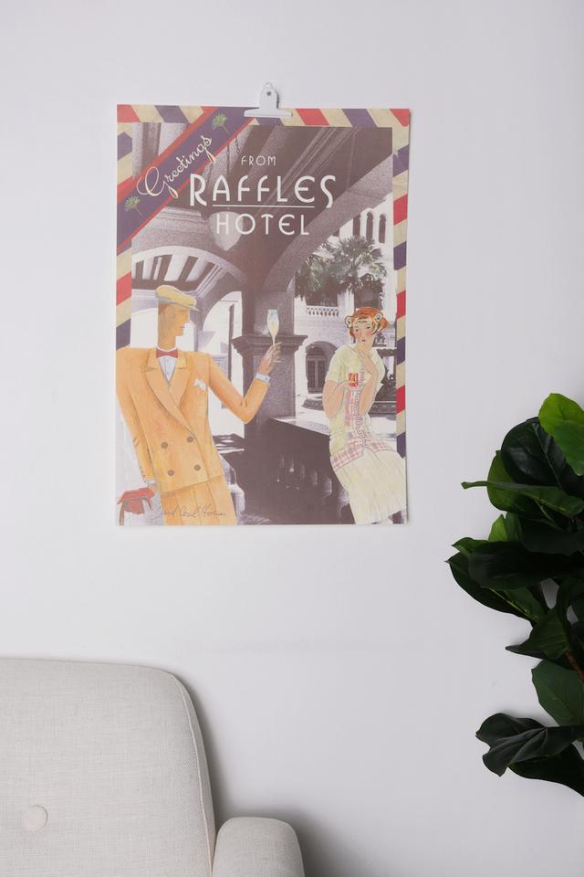 Raffles Aerogramme Poster