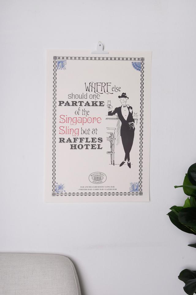 ラッフルズ<br>「パーテイク」デザインのポスター/Raffles Partake Poster