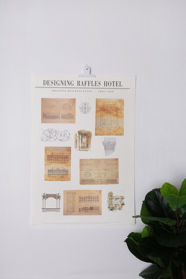 ラッフルズの<br>建築設計デザインのポスター/Raffles Architecture Design Plan Poster