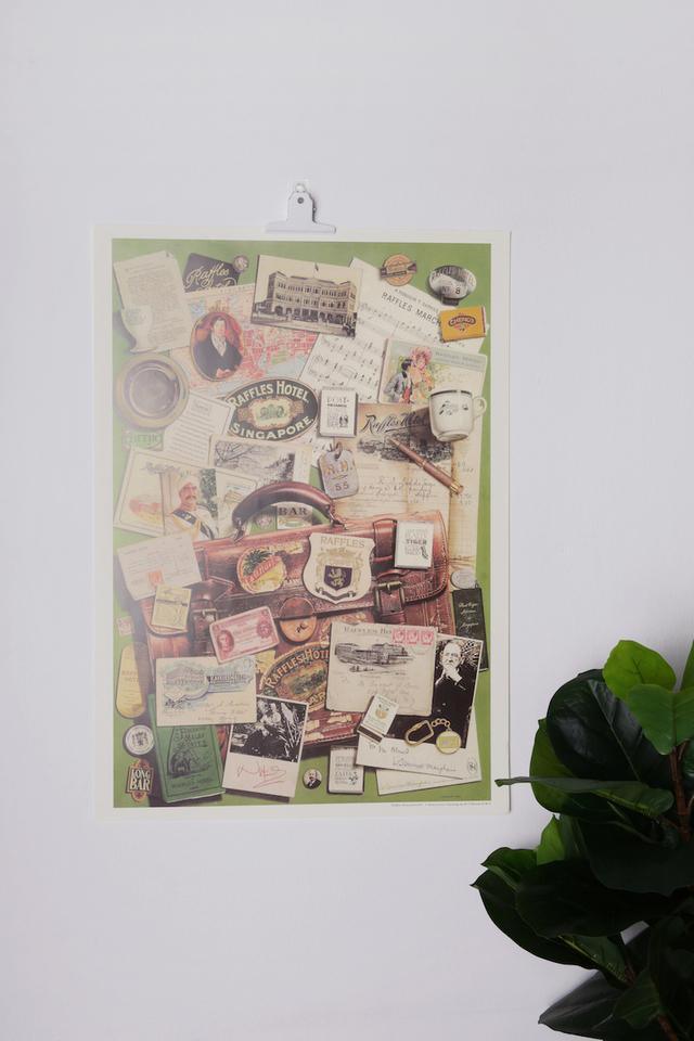 ラッフルズの思い出デザインの<br>ポスター/Remembering Raffles Design Poster