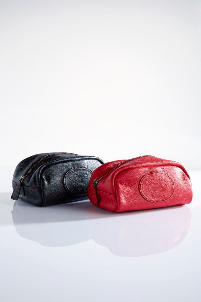 Raffles Leather Travel Pouch