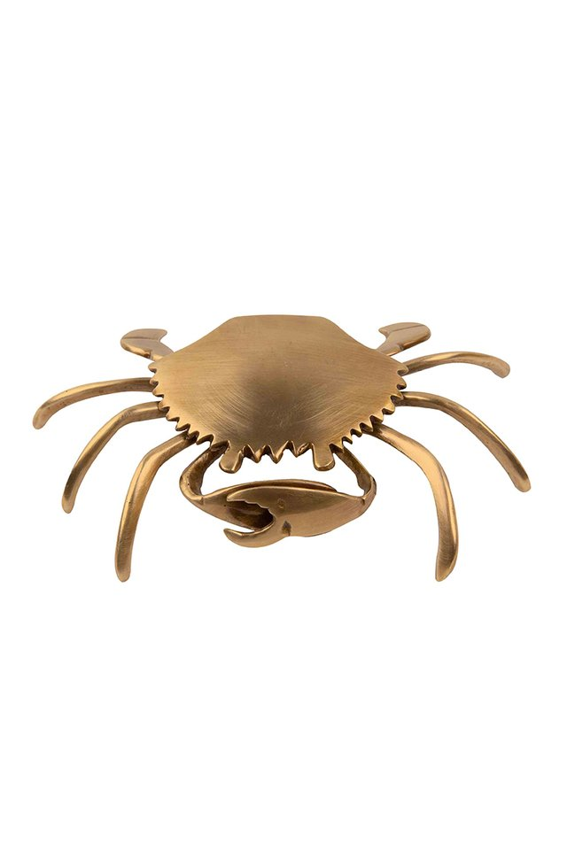 Artisanal Brass Crab Trinket Box