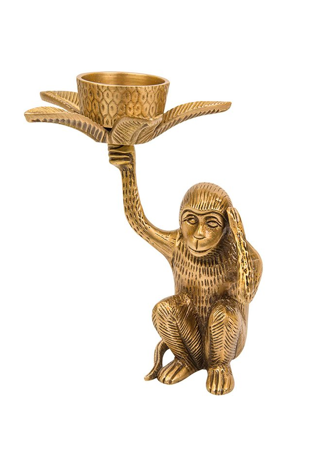 Artisanal Brass Monkey Tea Light Candle Holder