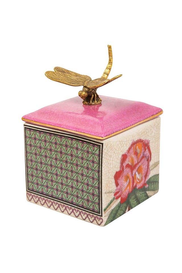 Artisanal Dragonfly Porcelain Trinket Box