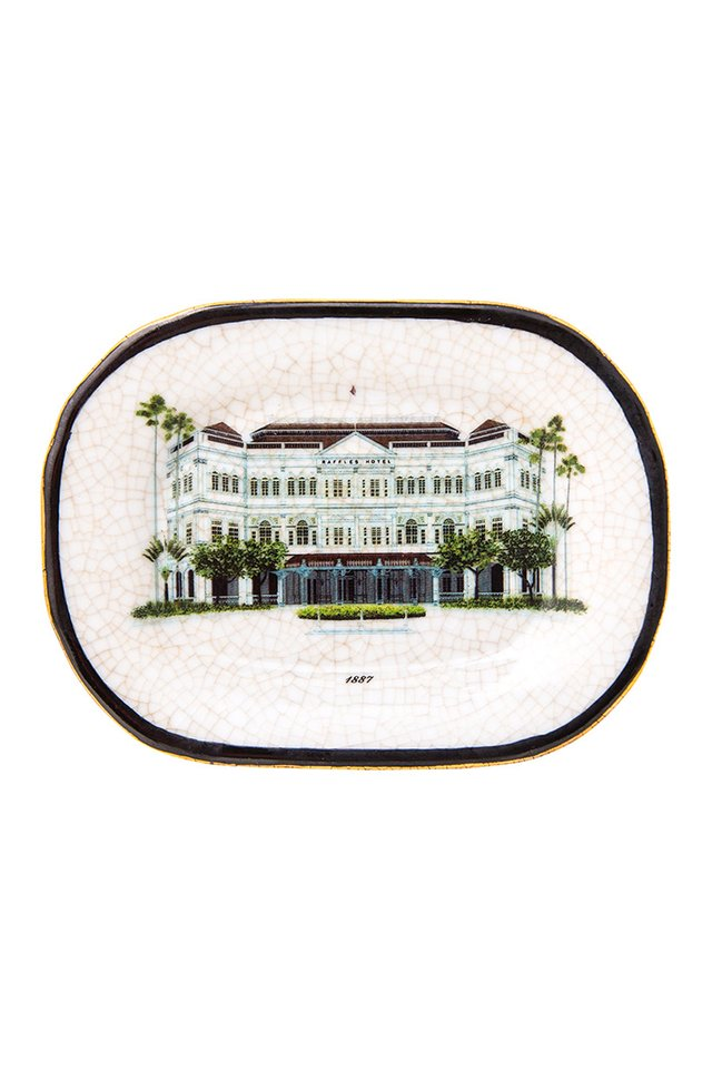 Artisanal Porcelain Dish With The Raffles Iconic Facade