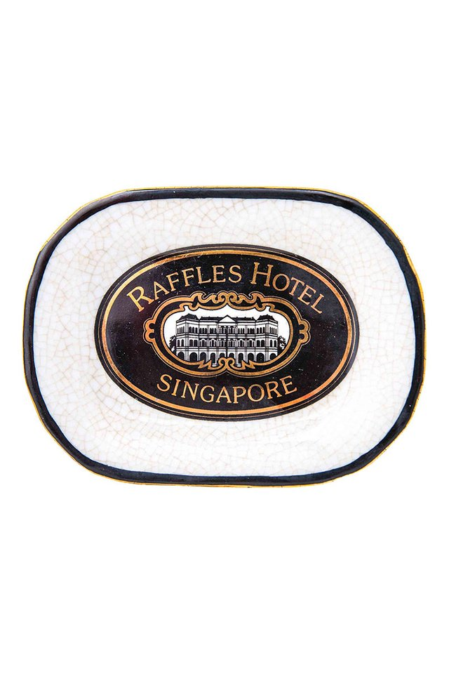 Artisanal Porcelain Dish with The Raffles Iconic Heritage Logo