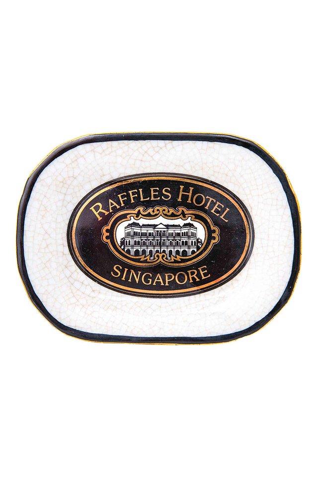 ラッフルズホテリエ<br> ソープディッシュ ロゴ入り/Artisanal Porcelain Dish with Raffles Iconic Heritage Logo