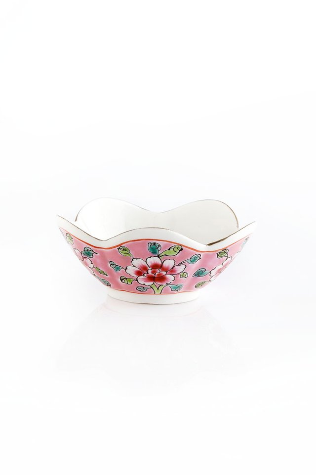 Hand-painted Floral Petal Shaped Mini Dish