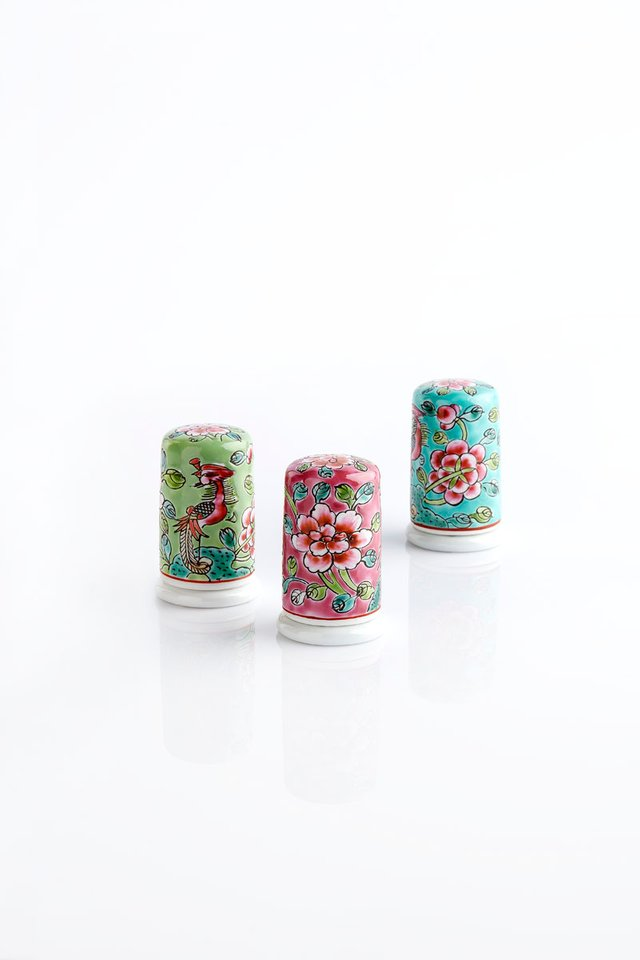 Handcrafted Toothpick Holder with floral motif