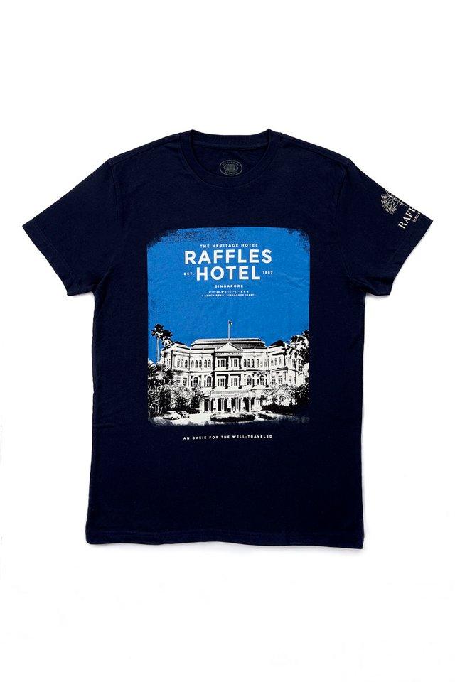 Raffles Facade Photograph T-Shirt