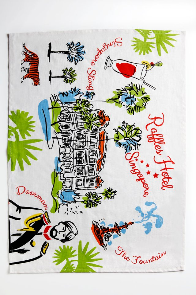 Raffles Contemporary Fine Linen Tea Towel