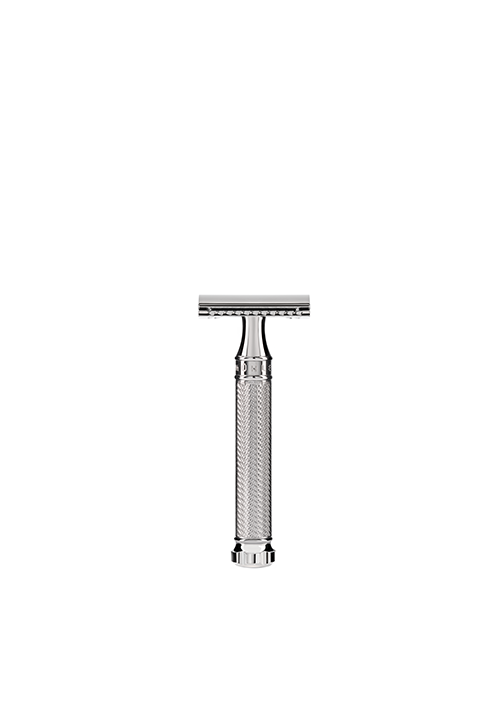ミューレ  Traditional クロムツイスト安全カミソリ/Traditional Chrome Twist Safety Razor Blade by MÜHLE