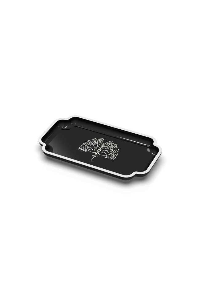 Raffles Palm Vanity Tray (Black)