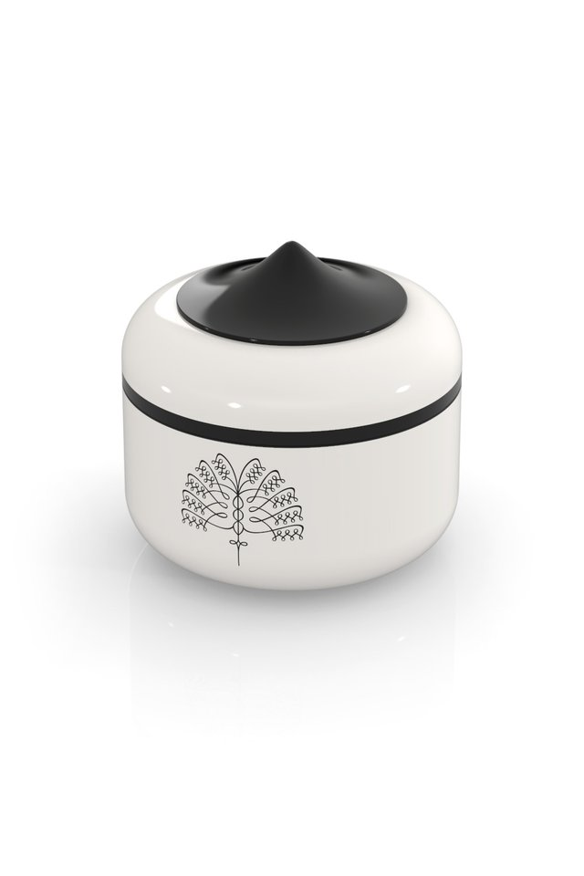 Raffles Palm Keepsake Box (White)
